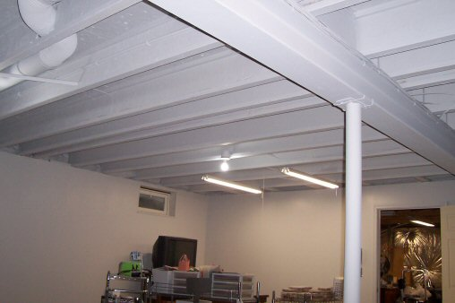 Jazz Up Your Basement Ceiling